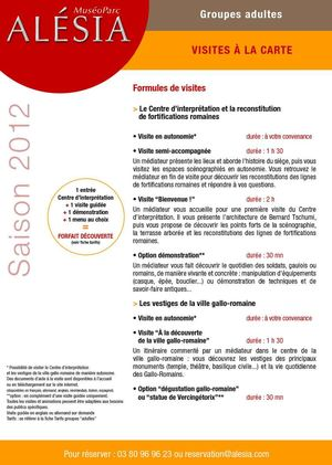 Brochure groupes adultes 2012
