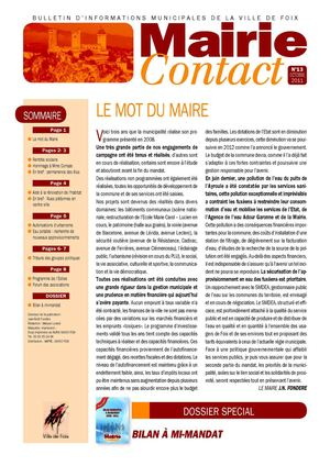 Mairie Contact n°13 octobre 2011