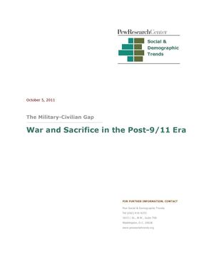 War and sacrifice in the post 9-11 era (report Oct. 2011)