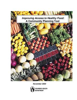 Improving Access to Healthy Food: A Community Planning Tool