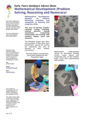 Mathematical Development: Early Years Outdoors Learning
