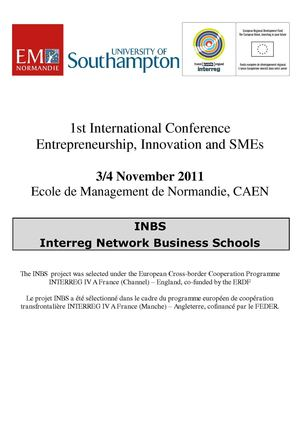 1st INTERREG International Conference Entrepreneurship, Innovation and SMEs