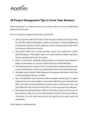 10 Project Management Tips to Grow Your Business
