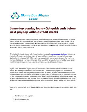 Same-Day Approvals