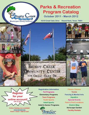 Brushy Creek October 2011 - March 2012 Program Catalog 2