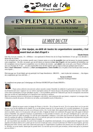 En Pleine Lucarne - L'info du district - Novembre 2011