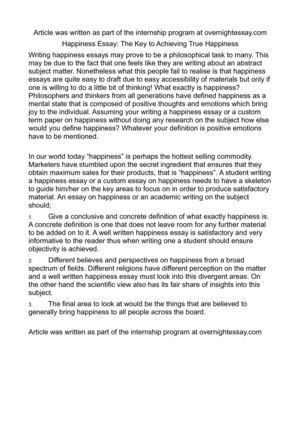 happiness essay the key to achieving true happiness happiness essay the key to achieving true happiness