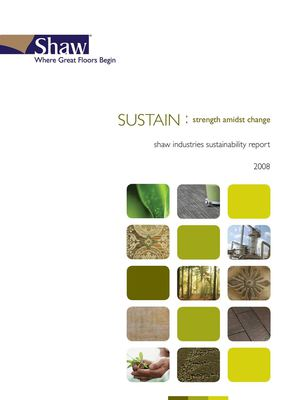 Shaw Industries Sustainability Report 2008