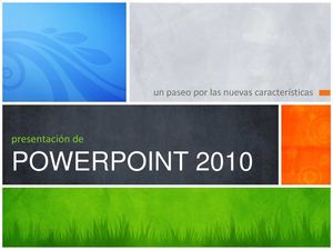PRESENTACION DE POWER POINT 2007