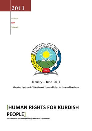 Ongoing Systematic Violations of Human Rights in  Iranian Kurdistan (Volume8)