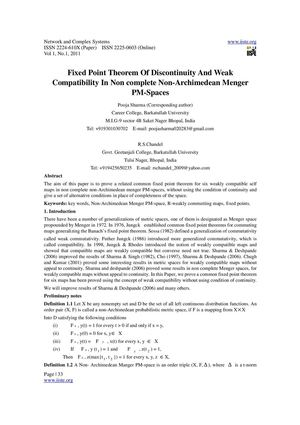 Fixed Point Theorem Of Discontinuity And Weak Compatibility In Non complete Non-Archimedean Menger PM-Spaces
