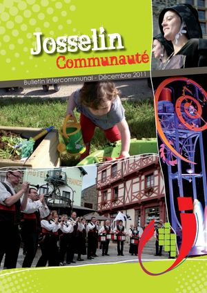Josselin Communauté - Bulletin intercommunal - Déc. 2011