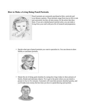 How to Make a Living Doing Pencil Portraits - Art Drawings