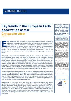 Key trends in the European Earth observation sector