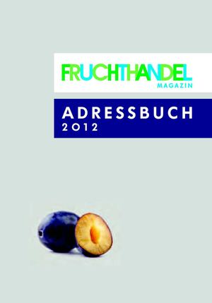 FRUCHTHANDEL ADDRESSBOOK 2012