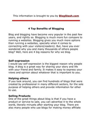 4 Ways Blogging Benefits You