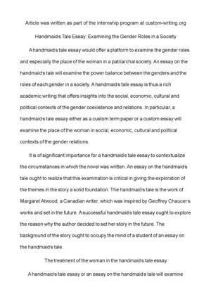 Patriarchal society essay