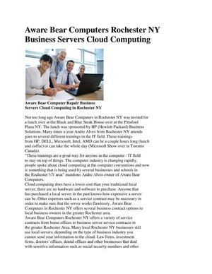 Aware Bear Computers Rochester NY Business Servers Cloud Computing