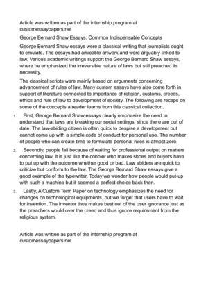 george bernard shaw essays common indispensable concepts george bernard shaw essays common indispensable concepts