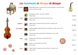 Instruments du Baroque