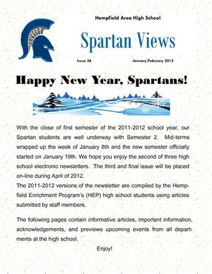 January/February 2012 Newsletter