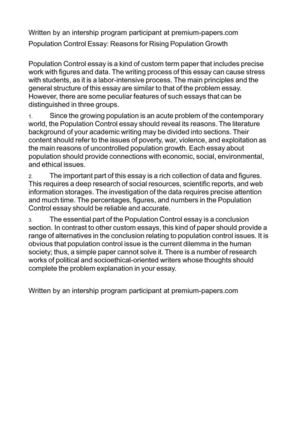 about population growth essay about population growth