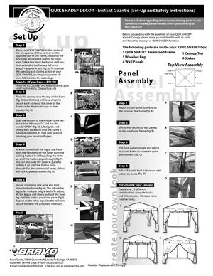 Instant Gazebo (Set-Up and Safety Instructions)
