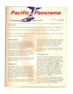 The Official Pacific Air Lines Newspaper / Volume 1 #2