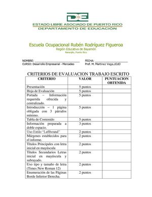 CRITERIOS HOJA EVALUACION TRABAJO ESCRITO FINAL MERCADEO