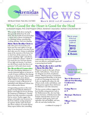 Avenidas March 2012 Newsletter