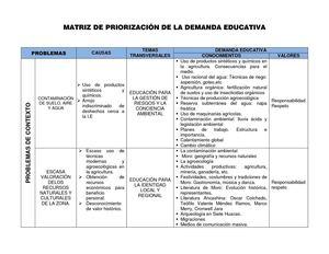 Calam o matriz de priorizaci n de la demanda educativa for Modelo demanda clausula suelo