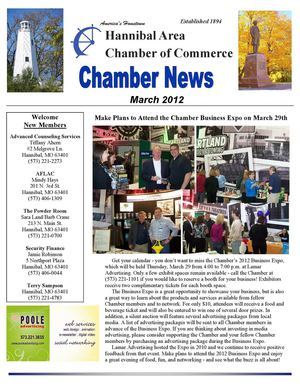Hannibal Chamber March 2012 Newsletter