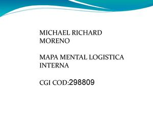 MAPA MENTAL LOGISTIK INTERNA