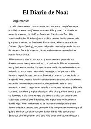 Calaméo - El diario de Noa(: