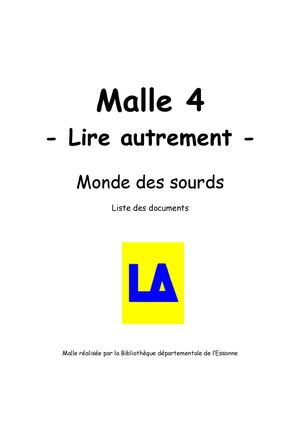 Lire autrement - Malle 4 - Documents