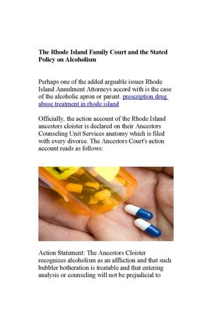 prescription drug abuse treatment in rhode island