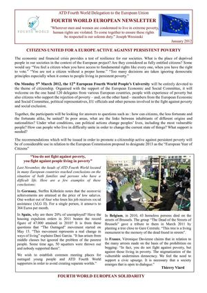 Fourth World European Newsletter January 2012