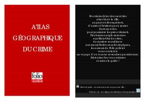 Atlas du crime