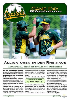 Game Day Rheinaue - Vol. 1 - Bonn Capitals vs. Solingen Alligators