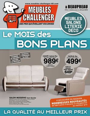 calam o catalogue meubles challenger beaupreau mars. Black Bedroom Furniture Sets. Home Design Ideas