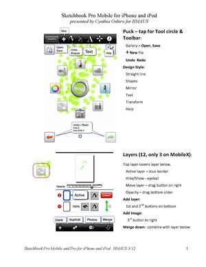 Sketchbook Pro Express iPhone and iPod