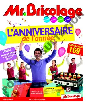 Calam o catalogue promotion anniversaire mr bricolage for Catalogue jardin 2015 mr bricolage