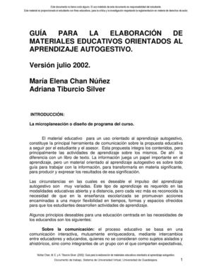 elaboración de materiales educativos