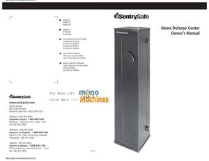 Sentry HDC11E Home Defense Center Gun Safe Manual