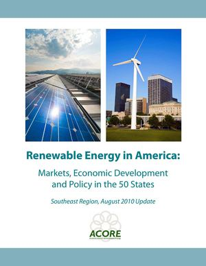 Renewable Energy in America - Markets, Economic Development and Policy in the 50 States - Southeast Region