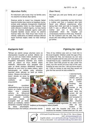 Newsletter April 2012