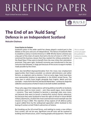 Defence in an Independent Scotland