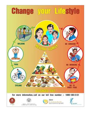 Poster on Lifestyle changes for better health