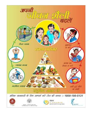 Poster on Lifestyle changes for better health - Hindi
