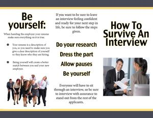 How to Survive An Interview Brochure